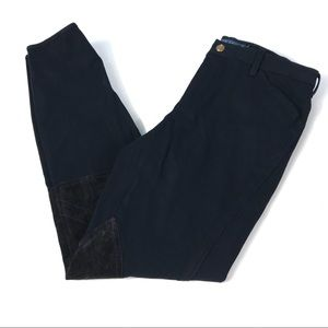 Ralph Lauren Navy Patch Skinny Pants Size 6 Ins 27